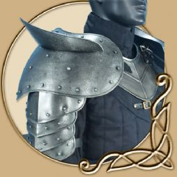 LARP Platemail - Giant Dark warrior Shoulderplates with sword breakers